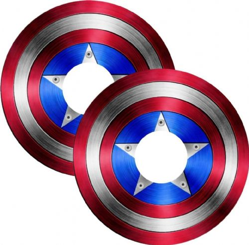 CAPTAIN AMERICA Wheelchair Spoke Guard Sticker Skins